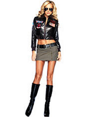 Adult Women's Bomber Jacket Costume - Top Gun