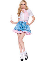 Adult At The Hop Bobby Soxer Costume