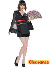 Adult Midnight Geisha Costume