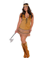 Adult Tribal Princess Native American Costume Plus Size