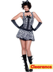 Adult Into The Wild Zebra Costume