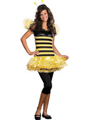 Teen Girls Busy Lil' Bee Light-Up Costume