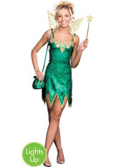 Teen Girls Pretty Pixie Light-Up Fairy Costume