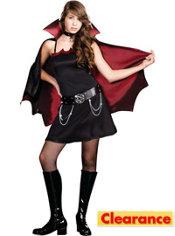 Teen Girls Twilight Bite Vampire Costume