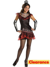 Teen Girls Senorita Bone-Ita Skeleton Costume