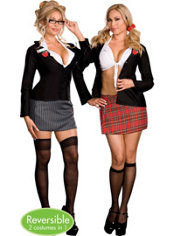 Adult Trouble at School Reversible Costume Plus Size