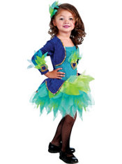 Toddler Girls Peacock Costume