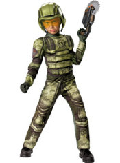 Boys Foot Soldier Muscle Costume - Operation Rapid Strike Red Sector