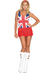 Adult Cheeky Brit Union Jack Dress Costume
