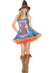 Adult Sunflower Scarecrow Costume