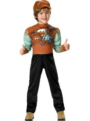 Toddler Boys Muscle Tow Mater Costume - Cars 2