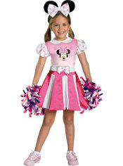 Toddler Girls Minnie Mouse Cheerleader Costume