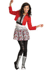 Girls Rocky Costume Deluxe - Shake It Up