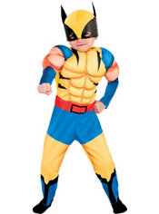 Toddler Boys Wolverine Muscle Costume