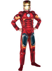 Boys Iron Man Muscle Costume