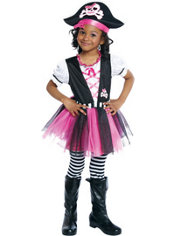 Toddler Girls Dazzling Pirate Costume