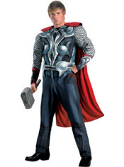 Adult Classic Thor Muscle Costume Plus Size - The Avengers