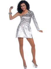 Adult 70's Disco Honey Costume
