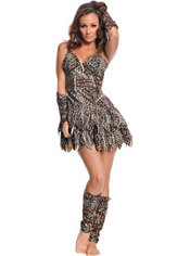 Adult Going Clubbin Cavewoman Costume