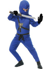 Boys Blue Ninja Avenger Costume