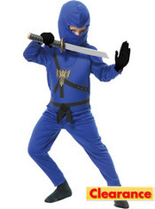 Boys Blue Ninja Avenger Costume