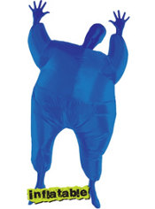 Adult Blue Inflatable Morphsuit