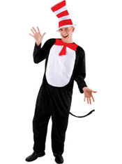 Adult Cat in the Hat Jumpsuit Costume – Dr. Seuss