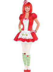 Teen Girls Red Strawberry Shortcake Costume