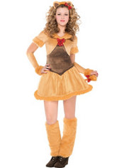 Teen Girls Cowardly Lioness Costume