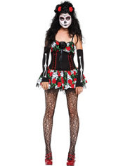 Adult Dahlia Day of the Dead Costume