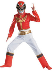 Boys Classic Red Ranger Costume - Power Ranger Megaforce