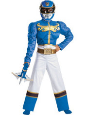 Boys Blue Ranger Muscle Costume - Power Rangers Megaforce