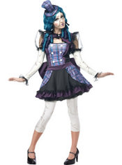 Teen Girls Broken Doll Costume