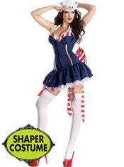 Adult Pin Up Sailor Body Shaper Costume