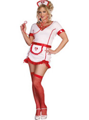 Adult Nurse Juana B Sedated Costume Plus Size
