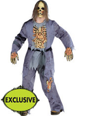 Adult Corpse Zombie Costume Plus Size