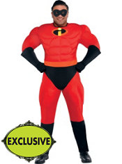 Adult Mr. Incredible Muscle Costume Plus Size - The Incredibles