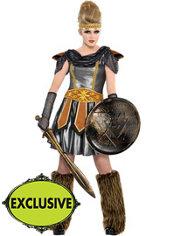 Teen Girls Warrior Princess Costume