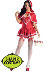Adult Little Miss Red Body Shaper Costume