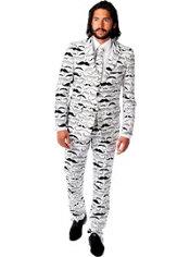 Adult Tashtastic Moustache Print Suit