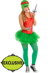 Adult Flirty Teenage Mutant Ninja Turtles Costume