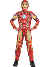 Boys Small Iron Man Muscle Costume - Avengers: Age of Ultron