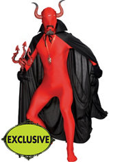 Adult Red Devil Partysuit Costume