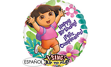 Foil Dora the Explorer Singing Balloon 28in