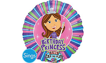 Sweet Sixteen Princess Singing Foil Balloon 28in