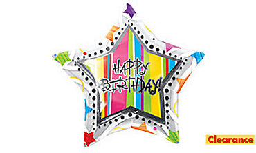 Foil Inliner Happy Birthday Balloon 32in