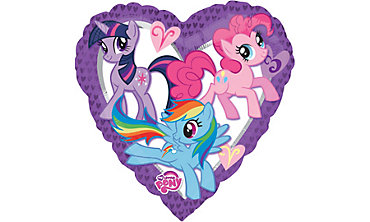 Foil Heart My Little Pony Balloon 32in
