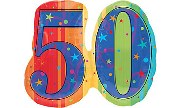 A Year to Celebrate 50th Birthday Foil Balloon 26in