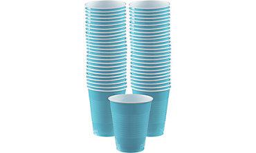 Caribbean Blue Plastic Cups 16oz 50ct