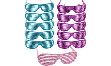 Glitter Slotted Glasses 24ct